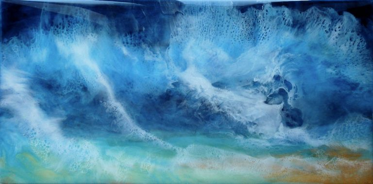 A perfect storm abstract resin art by Di Fox