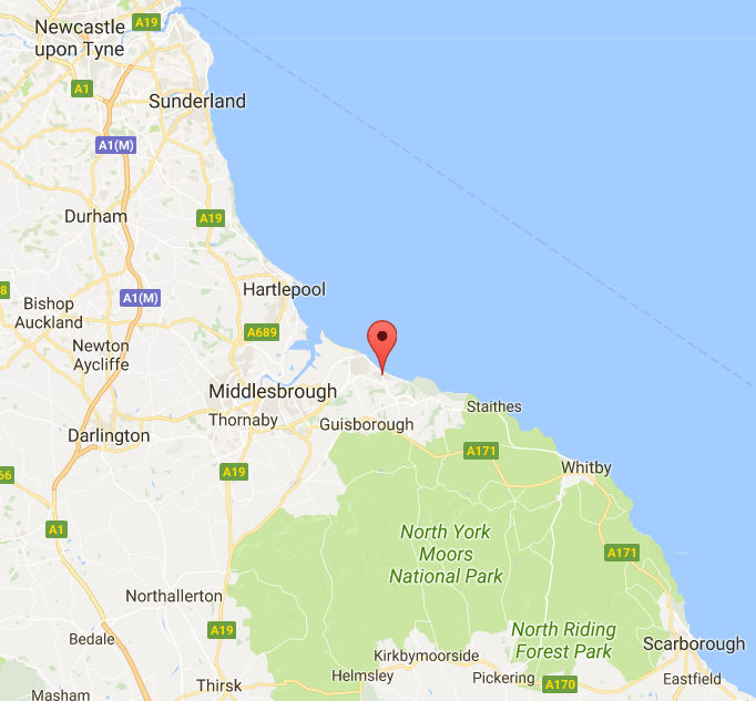 map-showing-Marske-by-the-sea