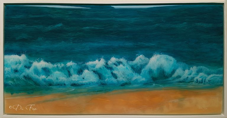 Ocean Dream a seascape resin art by artist Di Fox