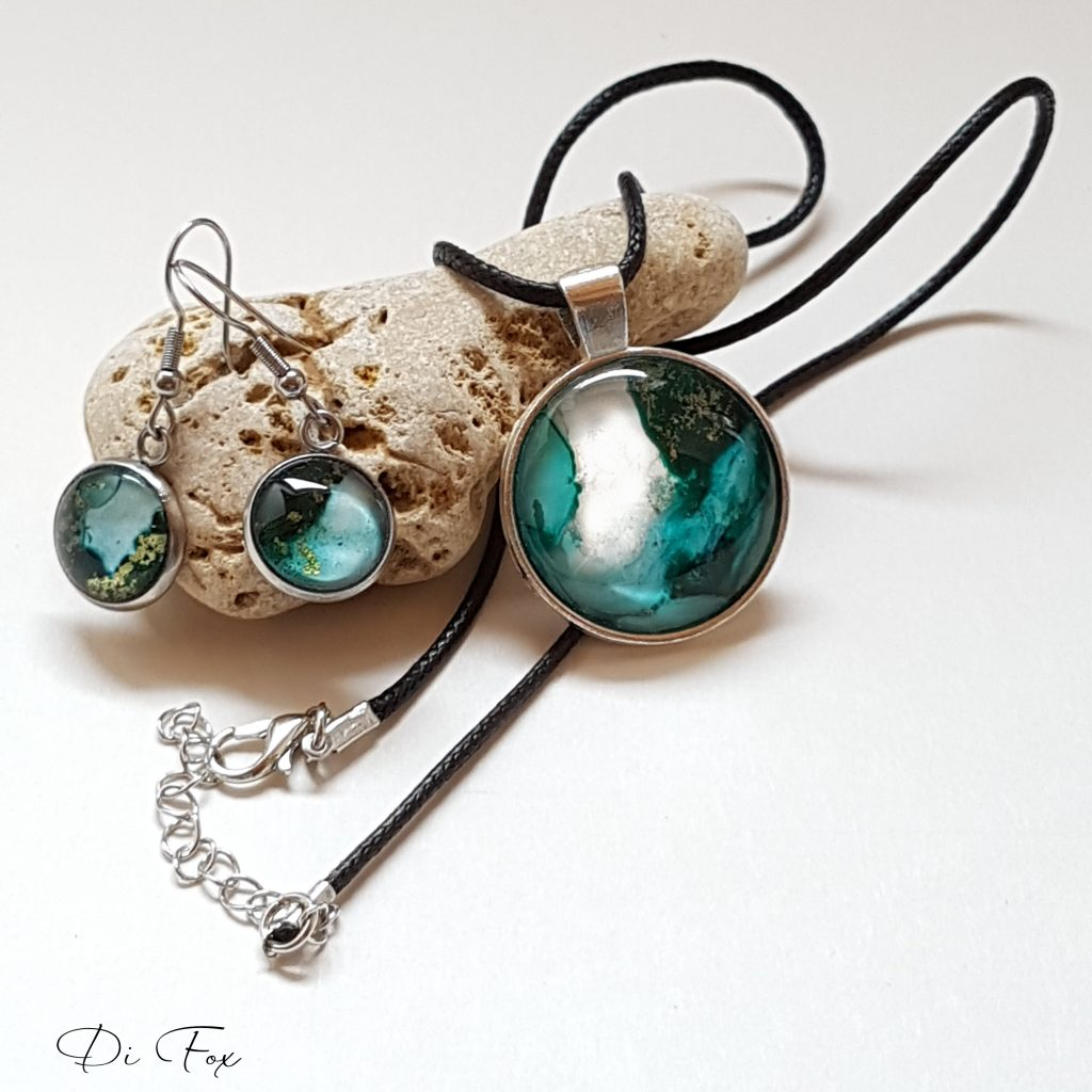 Jewellery made by artist Di Fox