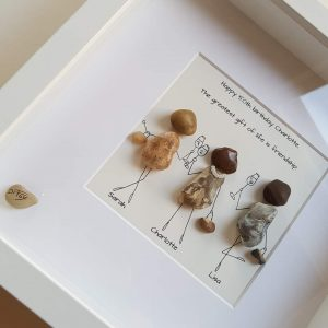 50th birthday pebble art