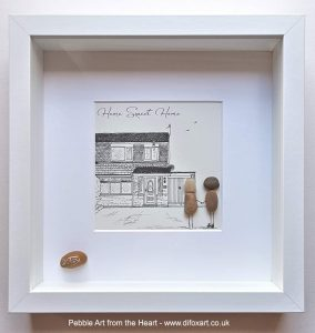 New house pebble picture
